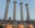 le colonne della fontana magica a barcellona