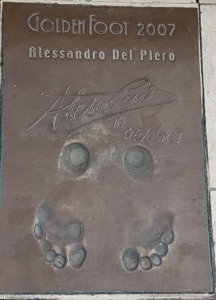 Calco dei piedi ed autografo di Alessandro Del Piero - The Champions Promenade - Monte Carlo - Principato di Monaco