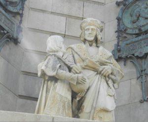 Statua_Cristoforo_Colombo_ai_piedi_Obelisco_Barcellona