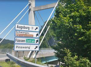 Cartelli in Germania per Füssen