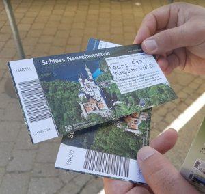 Biglietti per visitare il castello di Neuschwanstein