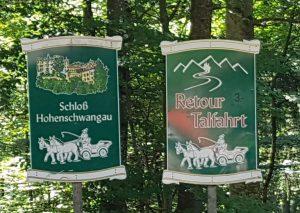 Fermata dei cavalli nei pressi del castello di Neuschwanstein