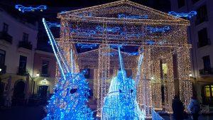 Il tempio di Poseidone - Luci d'Artista Salerno