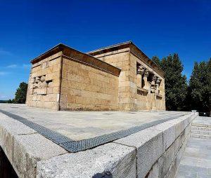 Dettaglio del tempio di Debod - Madrid