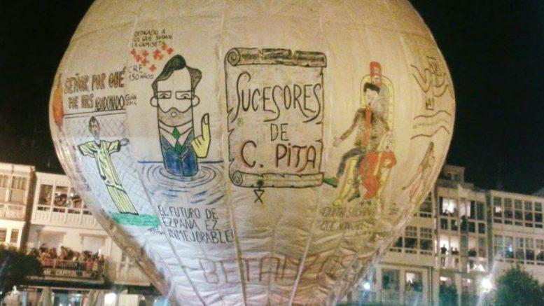 Globo de Betanzos, la mongolfiera di carte più grande del mondo