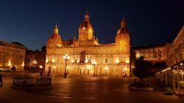 La Coruña . Piazza di Maria Pita