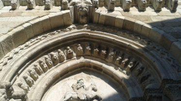 Particolare della chiesa di Santiago - A Coruña