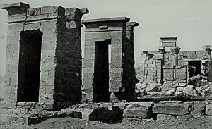 Tempio di Debod - Fotografia di Francis Frith scattata il 1 gennaio 1862 in Nubia in Egitto