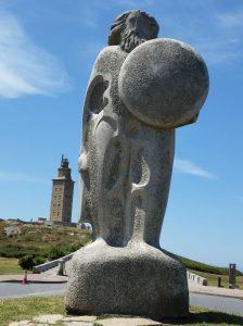 Vista della Torre di Ercole - La Coruña