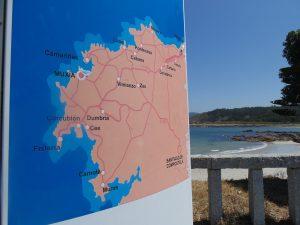 Mappa della Galizia trovata all'ingresso di Muxía