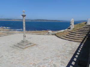 Panorama dell'oceano Atlantico nelle vicinaze del monastero di Nosa Señora da Barca