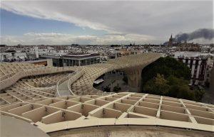 Vista della città di Siviglia dal Metropol Parasol