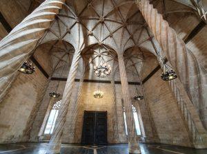 Salone delle contrattazioni della Lonja de la Seda a Valencia
