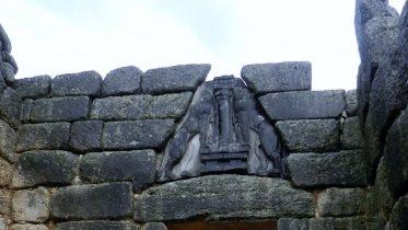 Particolare della Porta dei Leoni a Micene