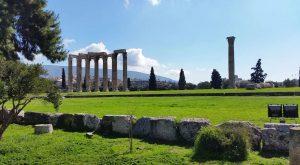 Resti del tempio di Zeus Olimpio - Atene - Grecia