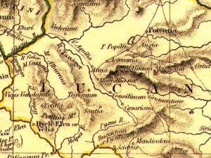 Antica cartina del Cilento